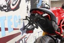 Evotech License plate holder, black - Ducati 939 Supersport, 797 / 821 / 1200 Monster