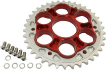 Ducati Sprocket adapter kit red, 525, 38 teeth - 1098, 1198, Multistrada 1200, 1260, Diavel...