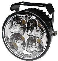 LED-Tagfahrlicht mit 4 LEDs, rundes Alu. Gehäuse