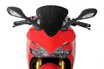 MRA fairing screen, form O, black, with homologation - Ducati 939 Supesport