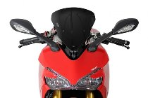 MRA fairing screen, form S, black, with homologation - Ducati 939 S