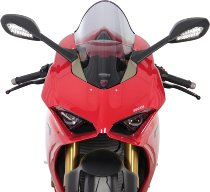MRA fairing screen, form R, smoky grey, with homologation - Ducati Panigale V4/S