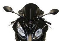MRA fairing screen, form R, black, with homologation - BMW S1000RR HP4 2015-2018