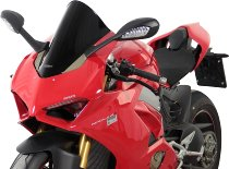 MRA fairing screen, form R, black, with homologation - Ducati Panigale V4 / S