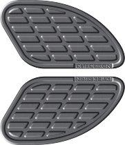 Print Kneepad-kit bumps, leather grey, 165x95mm