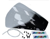 MRA fairing screen, form R, clear, with homologation - Aprilia RSV MILLE/R -2000