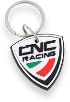 CNC Racing Rubber Keyring - white