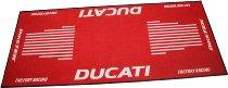 Motorcycle carpet, Ducati, red, 191cm x 81cm