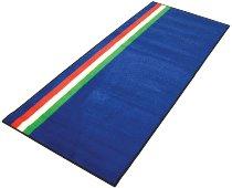 Motorcycle carpet, italian style, blue, 191cm x 81cm