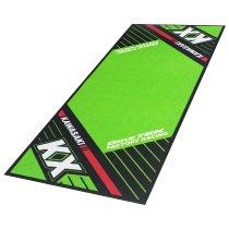 Motorcycle carpet, Kawasaki KX, Offroad, green, 190 x 80 cm