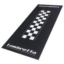 Motorcycle carpet, Lambretta, black / white, 190 x 80 cm