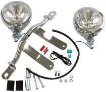 Hepco & Becker Twinlight kit, Chrome - Moto Guzzi California EV/Special/Jackal with windshield