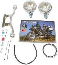 Hepco & Becker Twinlight kit, Chrome - Moto Guzzi Nevada Classic V 750 2004-> / Aquila Nera