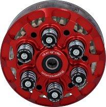 duc or die anti-hopping clutch 6-springs adjustable, pressure plate red