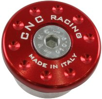 CNC Racing Front fork cap left side Ducati - red
