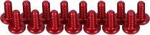 CNC Racing Ducati Aluminum screws kit (15 pcs) fairing- red