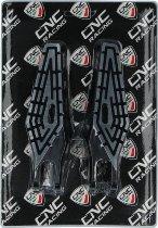 CNC Racing Ducati Fußrasten XDiavel Bicolor Schwarz/Silber