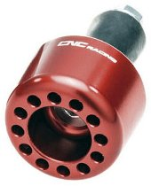CNC Racing Handlebar cap only left side Ducati - red