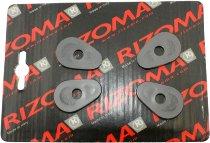 Rizoma Blinker Adapter, schwarz - vorne/hinten 2 Paar
