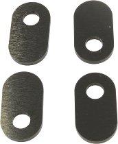 Rizoma Blinker Adapter, schwarz - hinten Paar