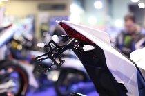 Evotech License plate holder, black - Aprilia 1000 RSV4 / RS4 / Tuono V4, 1200 Caponord