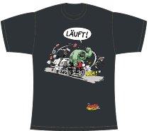 T-Shirt ´Läuft!´, anthrazit M