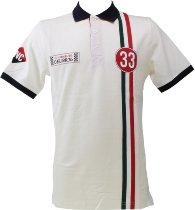 Dellorto Polo-shirt `inc 1933`, white, size: XXL NML