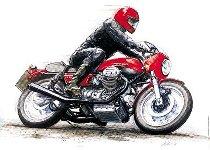 Holger Aue Poster, 50x70 cm - Moto Guzzi Le Mans 1