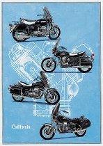 Holger Aue Poster, 70x48 cm - Moto Guzzi California