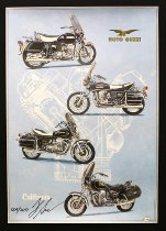 Holger Aue Poster, 70x48 cm signed - Moto Guzzi California