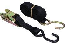Lashing strap 5.0m, black, with ratchet