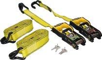 Ratchet tie ´Dead Loc´2 x 3,6 m, yellow (3.000 lbs)