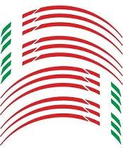 Sticker bead of rim italy, red