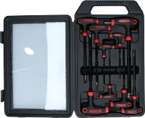 T-handle key kit ISK 2-10mm, 9 parts
