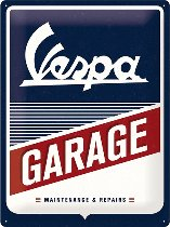 Vespa Tin-plate sign garage, 30x40cm