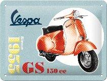 Vespa Tin-plate sign GS 150 since 1955, 15x20cm