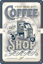 APE Tin-plate sign, coffee shop, 20x30cm