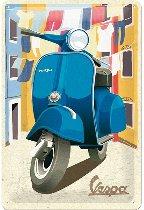 Vespa Tin-plate sign, italian laundry 20 x 30 cm