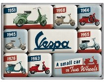 Vespa Magnet-kit, model chart 7 x 9,30 x 2 cm