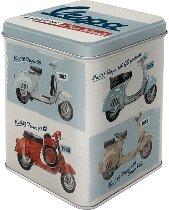 Vespa Tea caddy ´model chart´ 7,50 x 7,50 x 9,50 cm