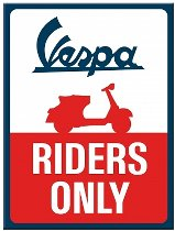 Vespa Magnet, riders only