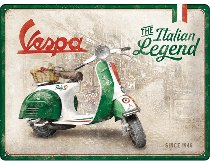 Vespa Tin-plate sign ´italian legend´ 30 x 40 cm