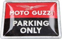 Moto Guzzi, Tin-plate sign ´Parking Only´, 15 x 20 cm
