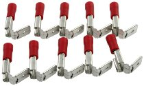 Flat-pin plug 6,8mm female, red branch 10er pieces