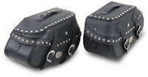 Hepco & Becker leather saddelbags Buffalo Custom for C-Bow carrier, Black