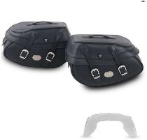 Hepco & Becker leather saddelbags Buffalo Big for C-Bow carrier, Black
