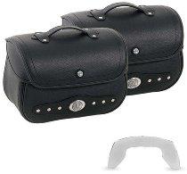 Hepco & Becker leather saddelbags Nevada for C-Bow carrier, Black