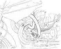 Hepco & Becker Engine protection bar, Black - Moto Guzzi 1200 Sport (2007->2008)