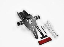 Zieger Licence plate holder Pro, black - Aprilia SMV 750 Dorsoduro