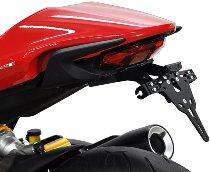 Zieger Licence plate holder Pro, black - Ducati 1200 Monster / S